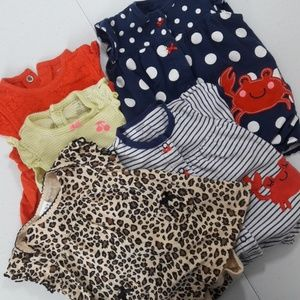 6 Month Dress Romper Outfits 5 pc LOT Carter's +